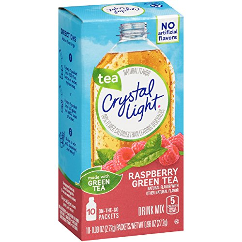 - Crystal Light On The Go Green Tea Raspberry, 10 Count Boxes (Pack of 6)