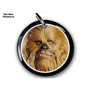 "Pet ID Tags Dog Tags Star Wars Chewbacca (Large 1.5"")"