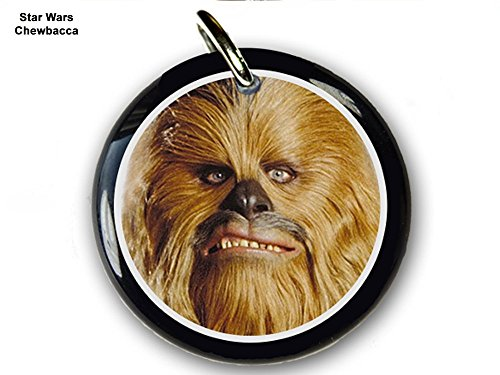 Pet ID Tags Dog Tags Star Wars Chewbacca (Small 1'') by Pet Tags