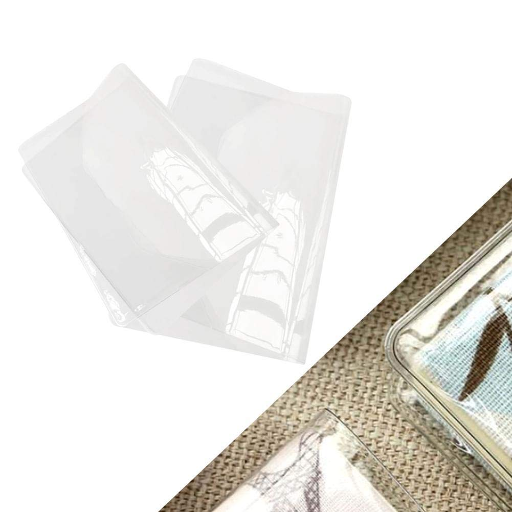Transparent A5 A6 Plastic Exercise Book Covers Wipeable Clear Jacket Cover Book Cover Album /& Sheet Protector Protective Covering Film Slip On Cover Jackets Flexible Protectors