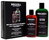 routine Brickell Men's Daily Essential Face Care Routine II - Face Moisturizer Lotion & Activated Charcoal Facial Cleanser Wash - Natural & Organic