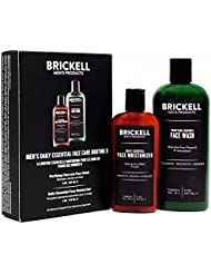 Brickell Men's Daily Essential Face Care Routine II - Face Wash & Face Moisturizer - Natural & Organic
