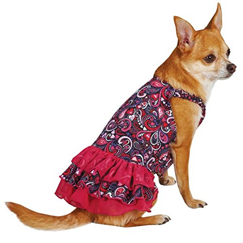 East Side Collection ZM3457 06 81 Retro Paisley Dress for Dogs, Teacup Raspberry