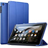 ESR Case Fire HD 8 Tablet, Light Weight Smart Trifold Stand Case, Microfiber Lining, Hard Back Cover the Fire HD 8 Inch Tablet (7th Generation 2017/6th Generation 2016), Navy Blue