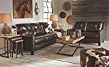 Ashley Furniture Signature Design - O'Kean Upholstered Leather Queen Sleeper Sofa - Contemporary - Mahogany