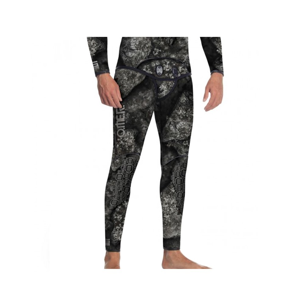 Omer Blackstone 7mm Men's Spearfishing Camo Wetsuit Pants Camouflage Bottoms (2XL) by Omer (Image #1)