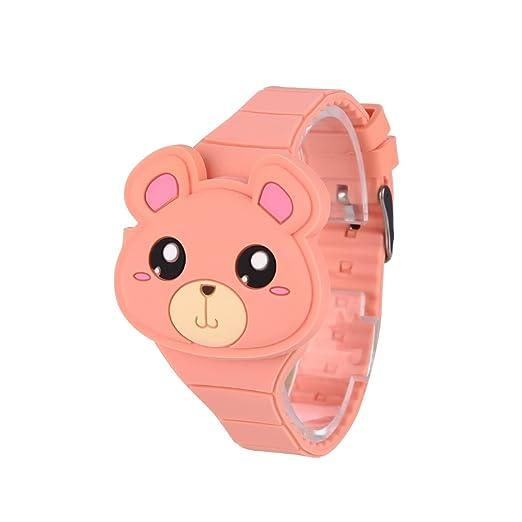 Reloj Infantil Digital Electrónico Niña Ninp de Silicona de Moda Dibujos Animados Animal LED Pantalla Reloj de Pulsera: Amazon.es: Relojes