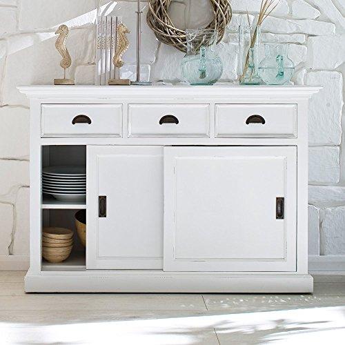 NovaSolo Halifax Buffet with Sliding Door, White by NovaSolo