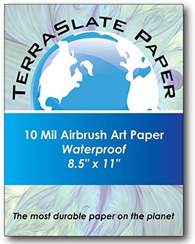 TerraSlate Paper 10ミル 8.5インチ x 11インチ エアブラシアートペーパー 25枚