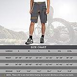 Gouxry Men's-Mountain-Bike-Shorts-Loose-Fit MTB