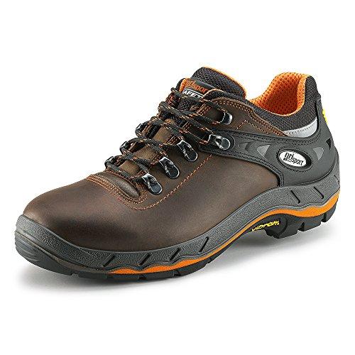 Grisport - Zapatillas de senderismo de Piel para hombre marrón