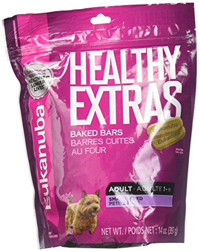 - Eukanuba Healthy Extras Adult Small Breed Baked Bar Treats for Dogs - 14 Oz. (2 Pack)