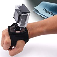 MegaGear Neoprene Glove-style Wrist Band Mount Strap Accessories for GoPro HERO5, GoPro, GoPro HD, GoPro HERO3+, HERO4, Sj4000, Sj5000