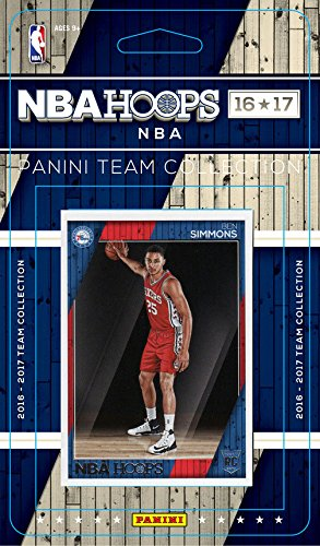 Philadelphia 76ers 2016 2017 Hoops Basketball Factory Sealed 10 Card Team Set with Jahlil Okafor and Ben Simmons Rookie Plus (Williams Rookie Card)