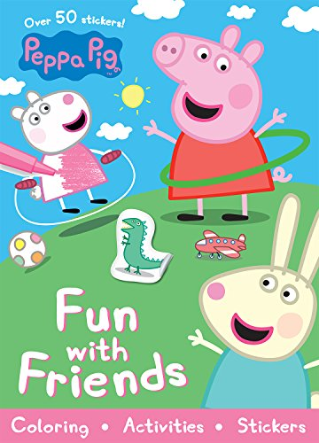 Peppa Pig Fun with Friends (Sticker Scenes & Coloring Book)