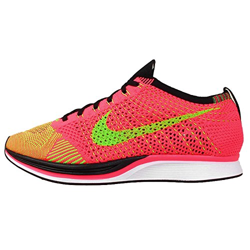 Nike Mens Flyknit Racer Hyper Punch/Electric Green-Blk Woven Size 12