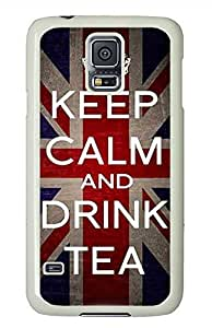 Keep Calm Drink Tea PC White Hard Case Cover Skin For Samsung Galaxy S5 I9600