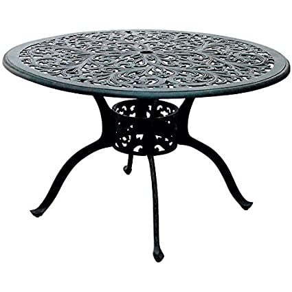 Amazoncom Darlee Series 80 Patio 48 Round Dining Table In