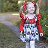 2PCS Toddler Kids Baby Girls Christmas Outfits Long