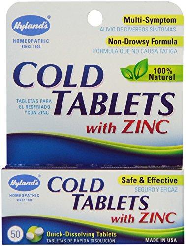 Hylands Cold Tablets Zinc 50