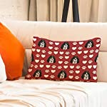 Style In Print Personalized Pillow Case Ariegeois Dog Red Paw Heart Polyester Pillow Cover 20INx28IN Design Only Set of 2 14