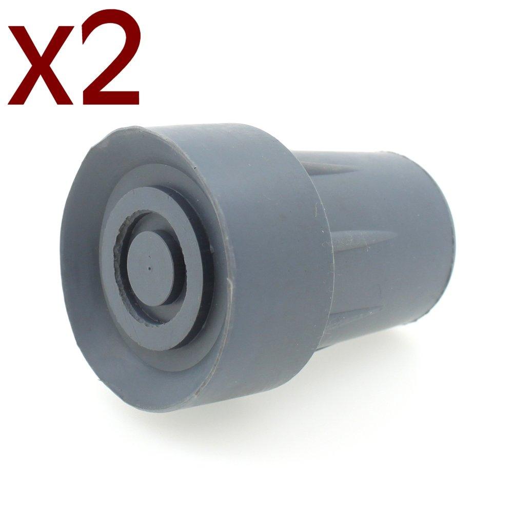 Virolas de goma de alta calidad (Pack 2) (18mm Grey)
