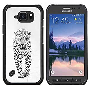 Dragon Case - FOR Samsung Galaxy S6 active/G870A/G890A (Not Fit S6) - snow leopard winter black white spots - Caja protectora de pl??stico duro de la cubierta Dise?¡Ào Slim Fit