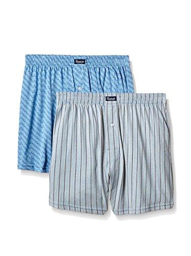 100 Imprimé En X Pack Estampado Punto Gris Bleu Boxer Homme Coton Maille De nbsp; 2 Abanderado Algodón 100 Bgx0z7Xgq