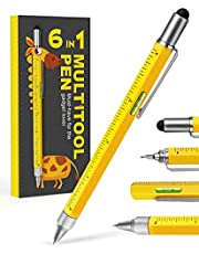 Stocking Stuffers Gifts for Men Dad -Multitool Pen Construction Tools,Cool Pen Tool Gadget for Men Women,Gifts Ideas for Him Engineer Woodworkers Carpenter Stylus,Ruler,Level,Screwdriver,Ballpoint Pen