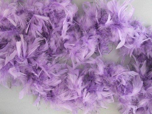 (Feather Boa Lavender Purple Foil Mardi Gras Masquerade Halloween Costume Feathers)
