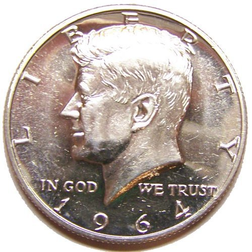 Brilliant Proof 1964 Silber Kennedy Half Dollar by United States Mint