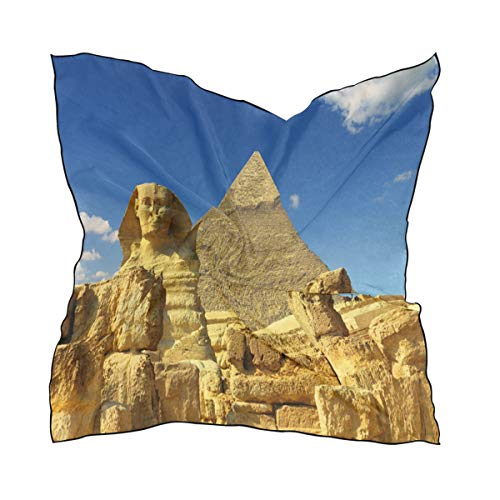 Silk Scarf Ancient Egypt Sky Square Headscarf 23 x 23 inches for -