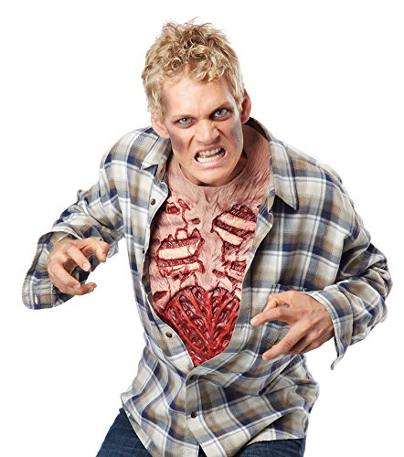 California Costumes Men's Zombie Chest, Flesh/red, One Size -