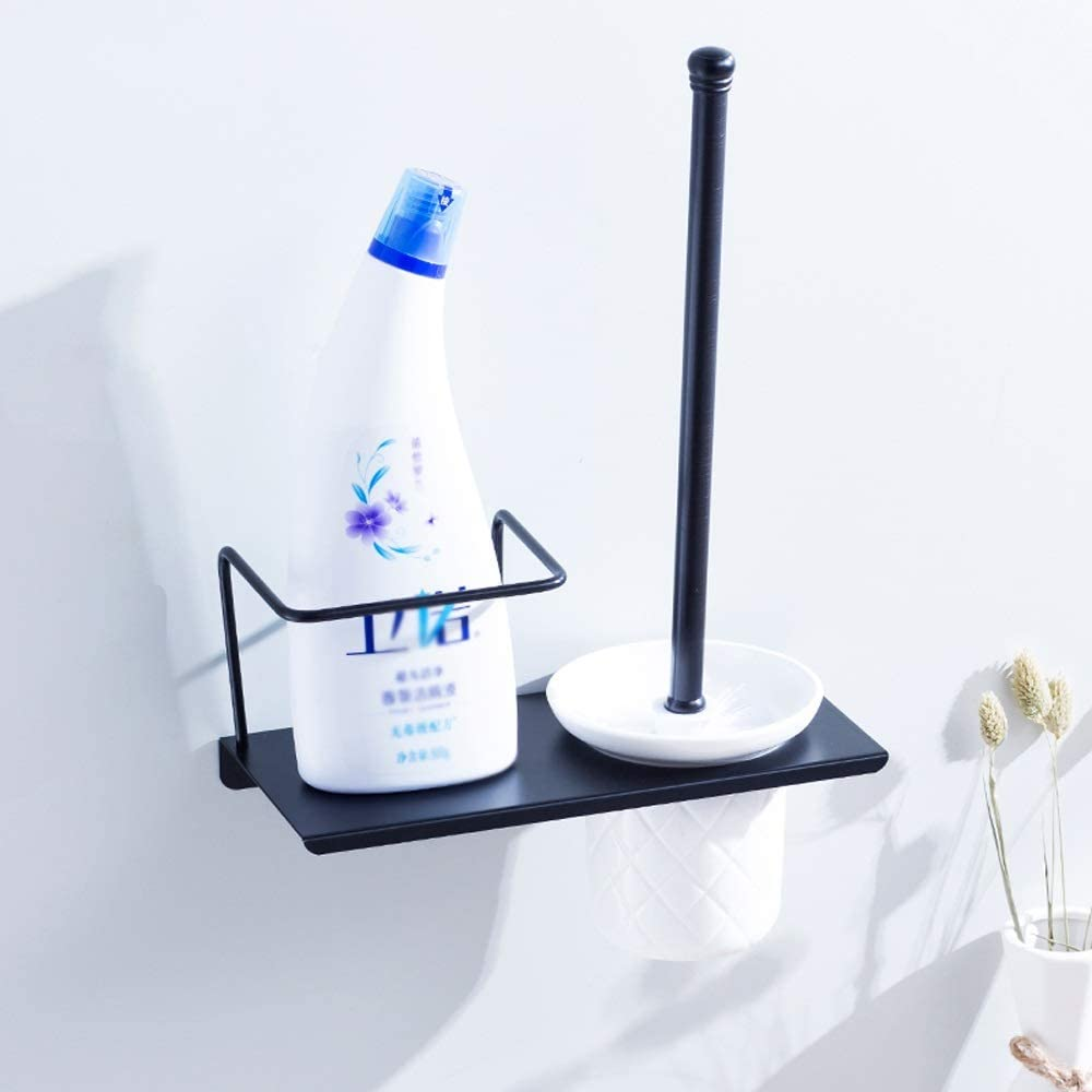 Toilet Brush and Cleaning Items  Storage Rack Shelf Holder  Wall Mount