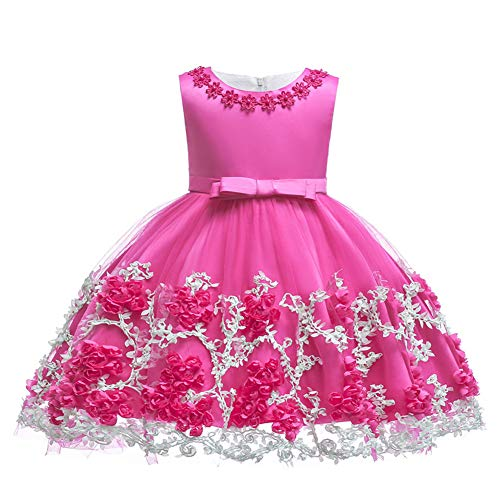 LZH Baby Girl Dress Formal Christening Baptism Gowns Pageant Dress Toddler]()