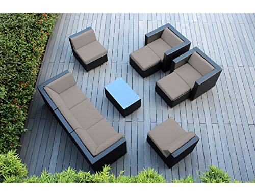 (Ohana Collection 10 Piece Outdoor Patio Couch Set with Patio Cover - Sunbrella)