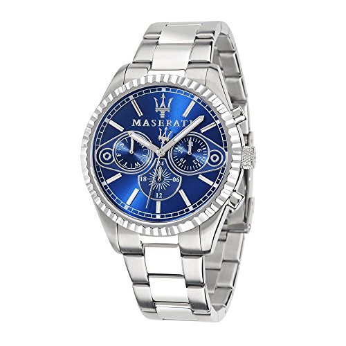 Maserati Mens Competizione R8853100009 Silver Stainless Steel Quartz Watch