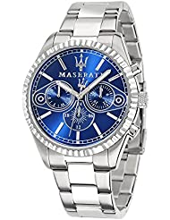 Maserati Mens Competizione R8853100009 Silver Stainless-Steel Quartz Watch