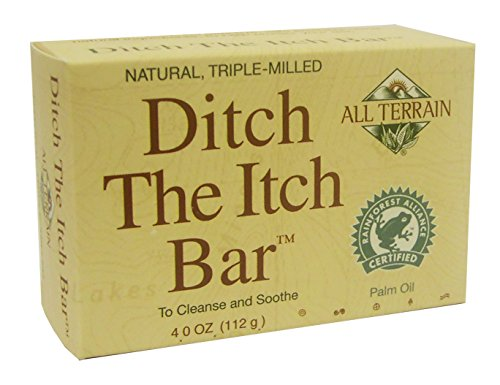 - All Terrain Natural Ditch the Itch Bar 4oz, Helps Relieve Minor Skin Irritations & Itching, Helps With Poison Ivy, Insect Bites, Rashes