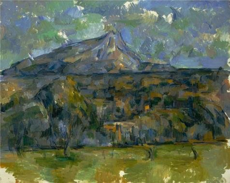 Oil Painting 'Paul Cezanne,Mont Sainte Victoire,ca.1902-1906', 20 x 25 inch / 51 x 64 cm , on High Definition HD canvas prints is for Gifts And Gym, Home Office And - Sunglasses Oakley Academy