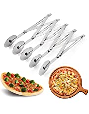 5 Wheel Pastry Cutter, Stainless Pizza Slicer, Expandable Pizza Slicer Multi-Round Pastry Knife Baking Cutter Roller Cookie Dough Cutter Divider