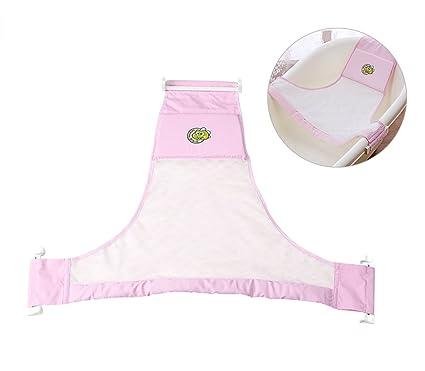 BLUESTAR Baby Asiento para la bañera para bebés recién nacidos neta, soporte de baño Baby Sling Hamaca neta rosa