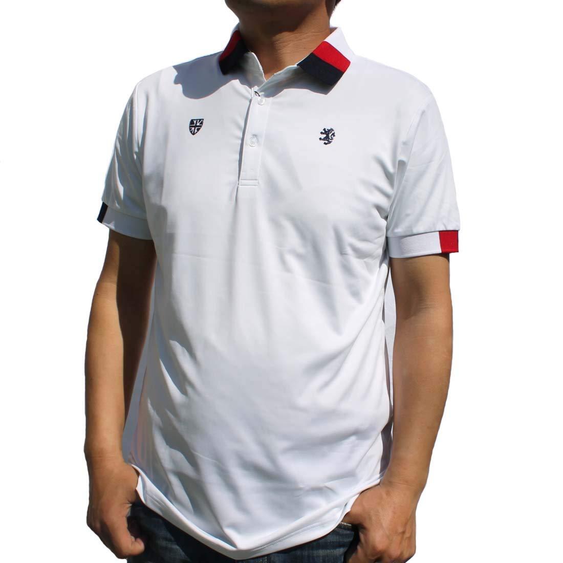 [アドミラル ゴルフ] Admiral GOLF トリコロール襟 ポロシャツ メンズ ADMA903 (M, WHITE) M ホワイト B07NHVQPQS