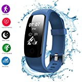 Fitness Tracker, Helthyband H107 Plus Activity Tracker: Waterproof Bluetooth Fitness Watch Smart Bracelet with Sleep Tracker Heart Rate Monitor Pedometer 14 Training Modes for iOS/Android Cellphone