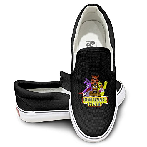 PTCY 5Night At Freddys Wideo Game Comfort Unisex Flat Canvas Shoes Sneaker 38 Black -