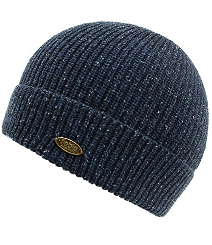 Los FI Con Jeans Fiebig De Beanie Gorro Para W17 incl EveryHead Forro Azules HE0 Hombres Punto Sombrero Hutfibel Seda Invierno 45225 7XrrtwxH