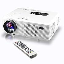 Excelvan 3000 Lumens HD LED Videoproiettore 3D Proiettore Home Theater HDMI VGA / USB / AV / Digital TV Projector Nativa 720p supporto 1080p (Bianco)