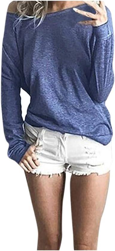 OPAKY Camisas Mujer Tallas Grande Primavera Otoño Blusa Básica ...