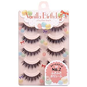 T&H Vanilla Birthday No. 2 Bushy Volume Eyelashes, 5 Pairs