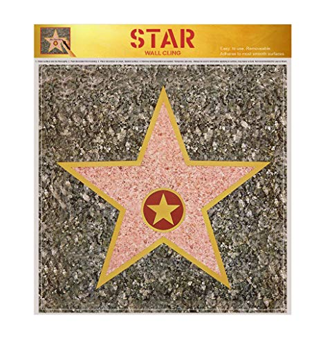 Hollywood Party Decorations | Hollywood Stars Walk of Fame Kits | Pack of 12 -